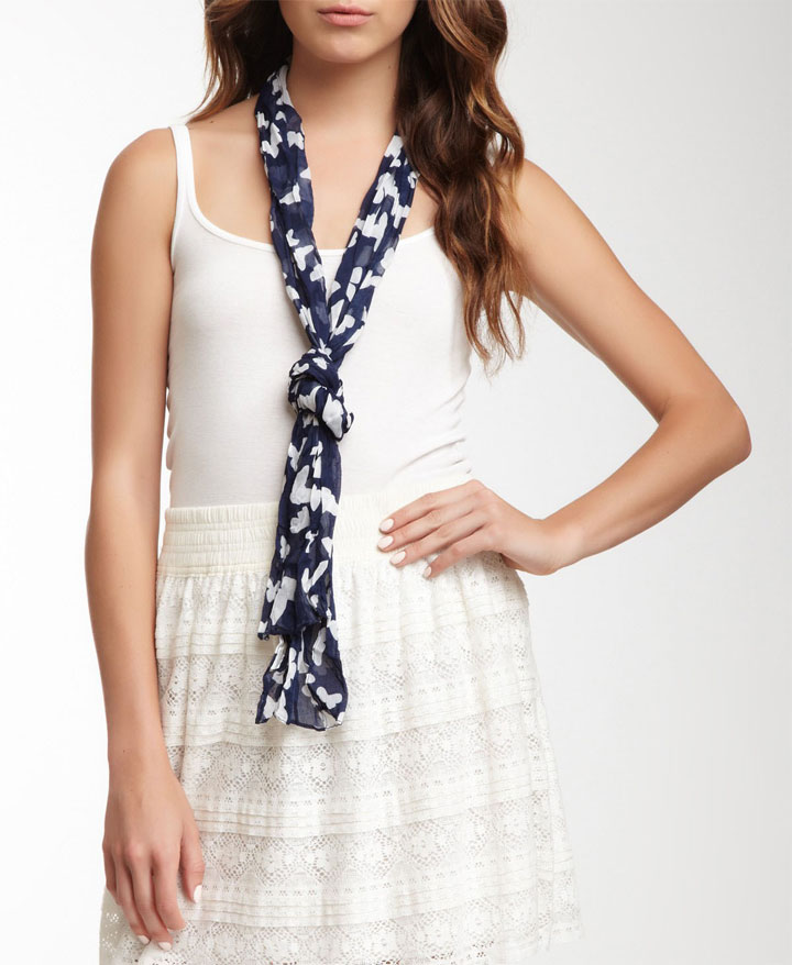 KC Signatures Navy Butterfly Scarf. Original Price - $29.99. Sale Price - $5 (85% off)