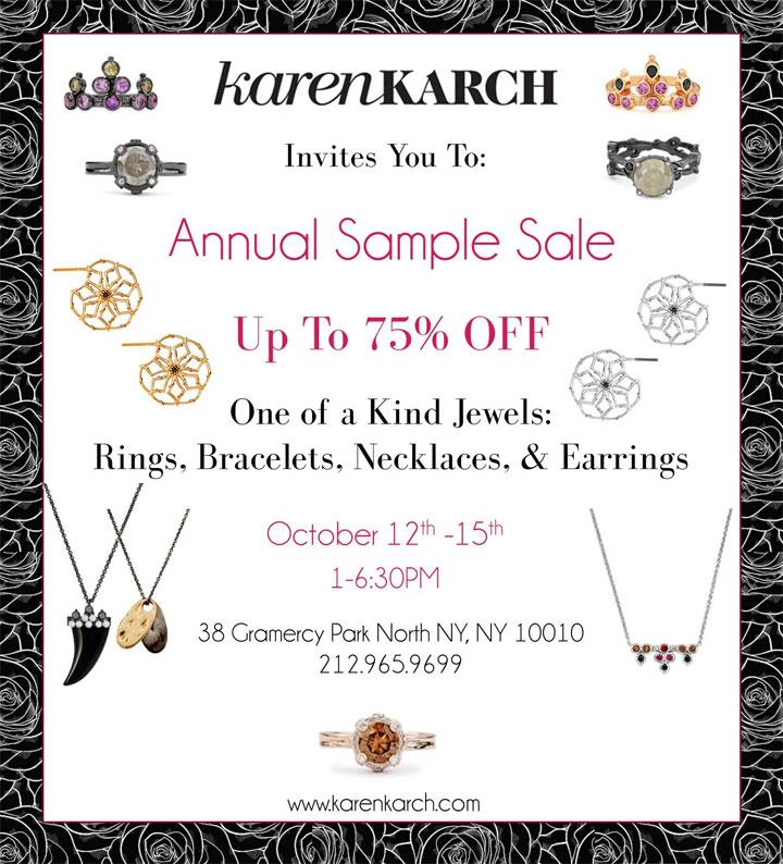 Karen Karch Annual Sample Sale