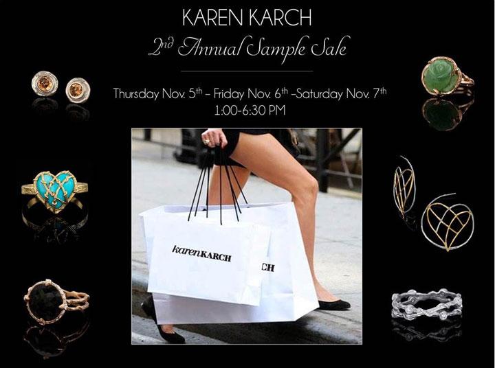 Karen Karch NYC Sample Sale