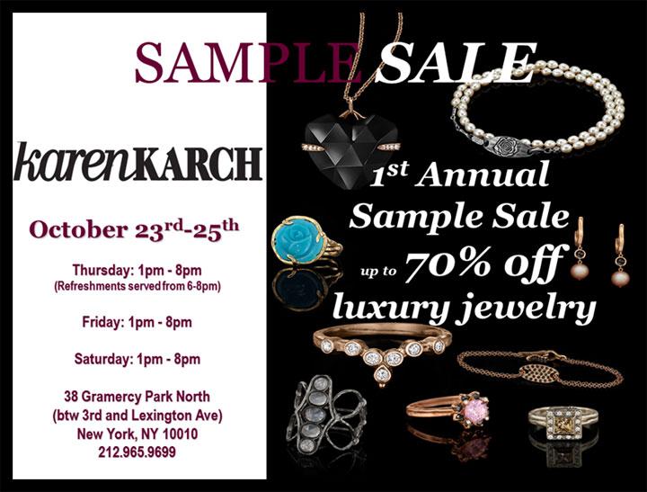 Karen Karch Sample Sale