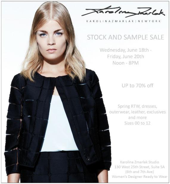 Karolina Zmarlak Stock & Sample Sale