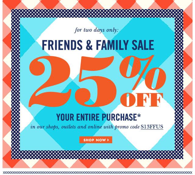 Kate Spade Friends & Family Sale