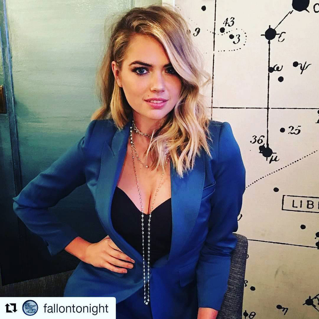 Kate Upton Wears a Styland Cocktail Suit