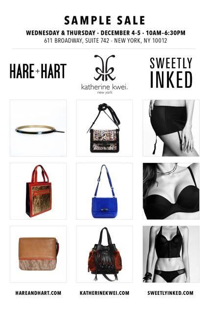 Katherine Kwei & Hare + Hart Sample Sale