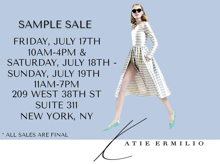 Katie Ermilio Sample Sale