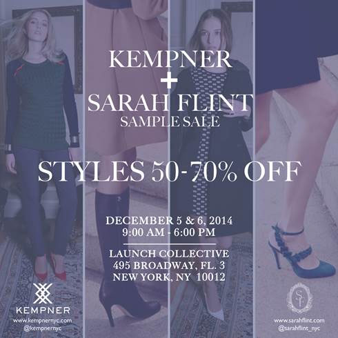 Kempner + Sarah Flint Sample Sale