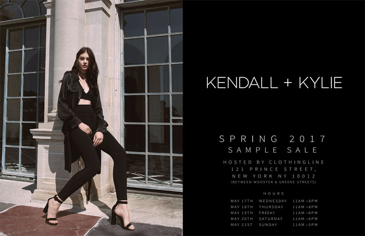 Kendall + Kylie Spring 2017 Sample Sale