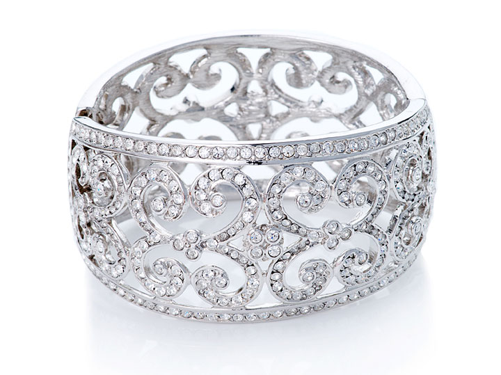 Kenneth Jay Lane - antique style lace crystal cuff: $175 (orig. $451)