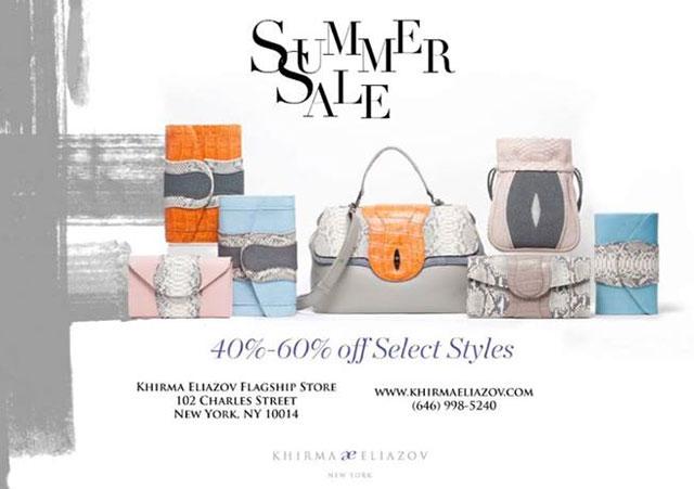 Khirma Eliazov Summer Sale