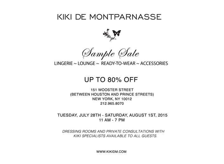 Kiki de Montparnasse Sample Sale