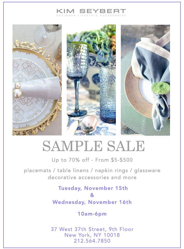 Kim Seybert Fall Sample Sale