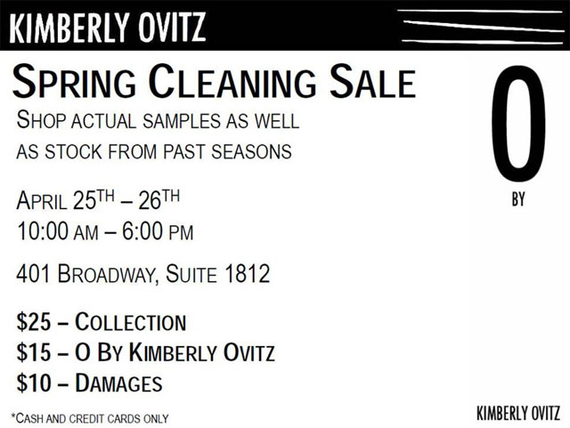 Kimberly Ovitz Spring Cleaning Sale