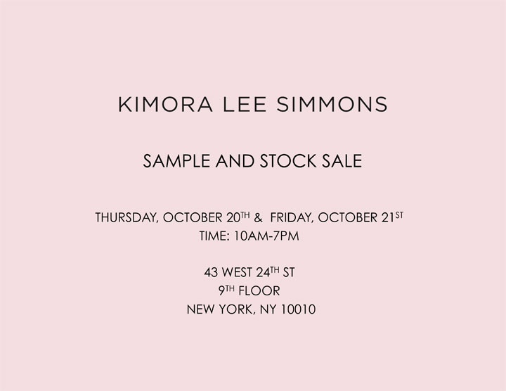 Kimora Lee Simmons Sample & Stock Sale