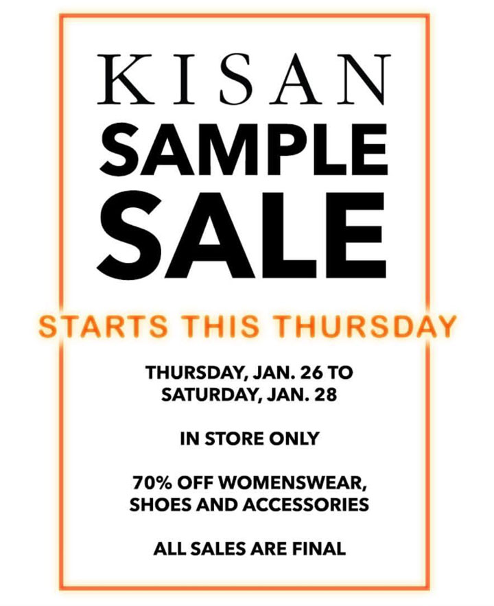 Kisan Sample Sale