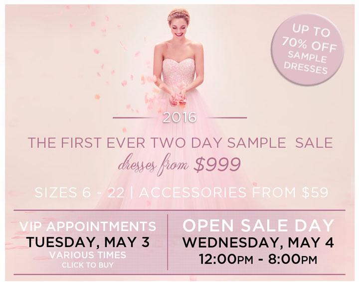 Kleinfeld Bridal Sample Sale