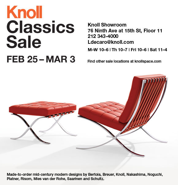 knoll classic mid century modern furniture new york sale