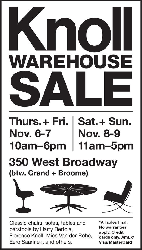 Knoll New York 2014 Warehouse Sale