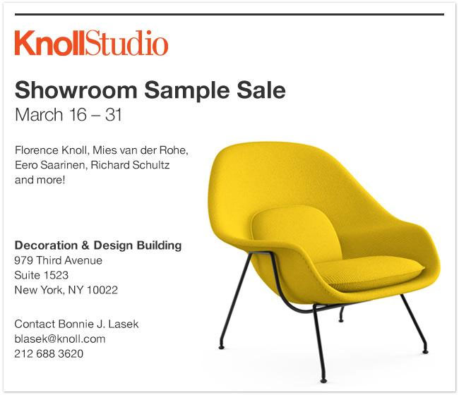 Top picks and a sneak preview: knoll uk sample sale 2015.