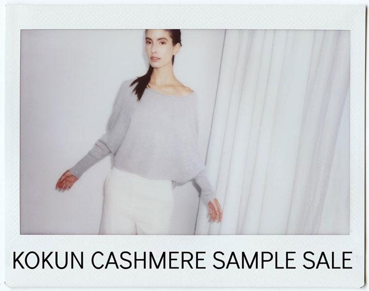 Kokun Cashmere Sample Sale