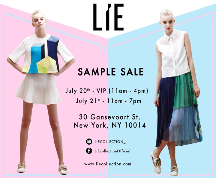 LIE Collection Samlpe Sale