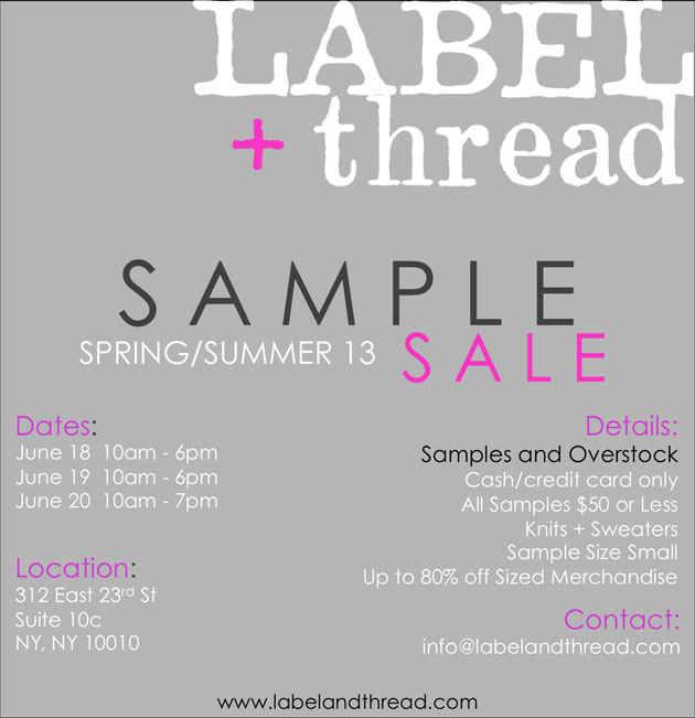 LABEL+thread Sample Sale