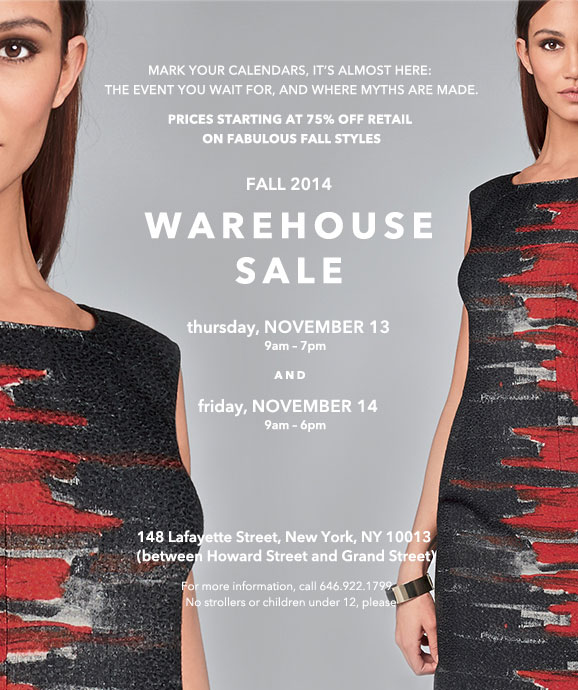 Lafayette 148 New York Fall 2014 Warehouse Sale
