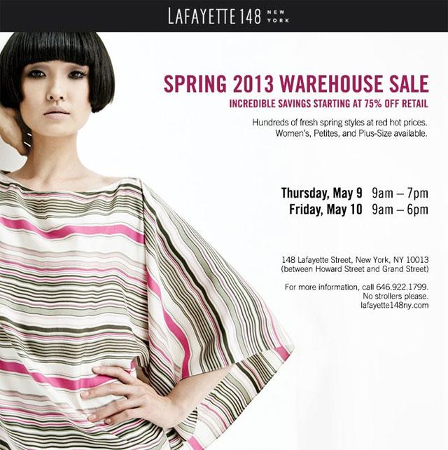 Lafayette 148 New York Spring 2013 Warehouse Sale