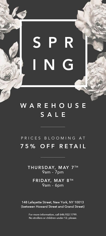 Lafayette 148 New York Spring 2015 Warehouse Sale