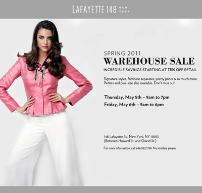 Lafayette 148 New York Warehouse Sale