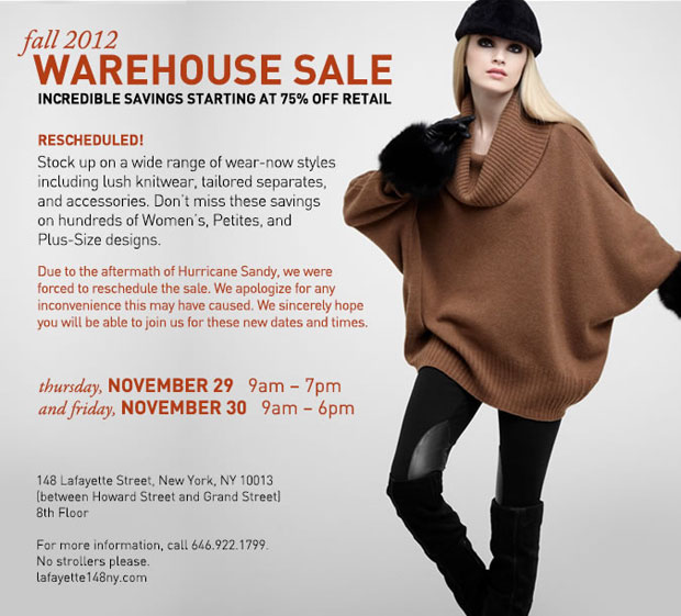 Lafayette 148 New York Fall Warehouse Sale