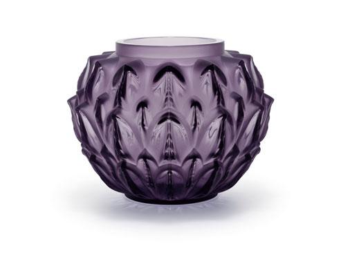 Lalique Cynara vase, violet crystal (Original price: $4,900. Sale price: $2450)