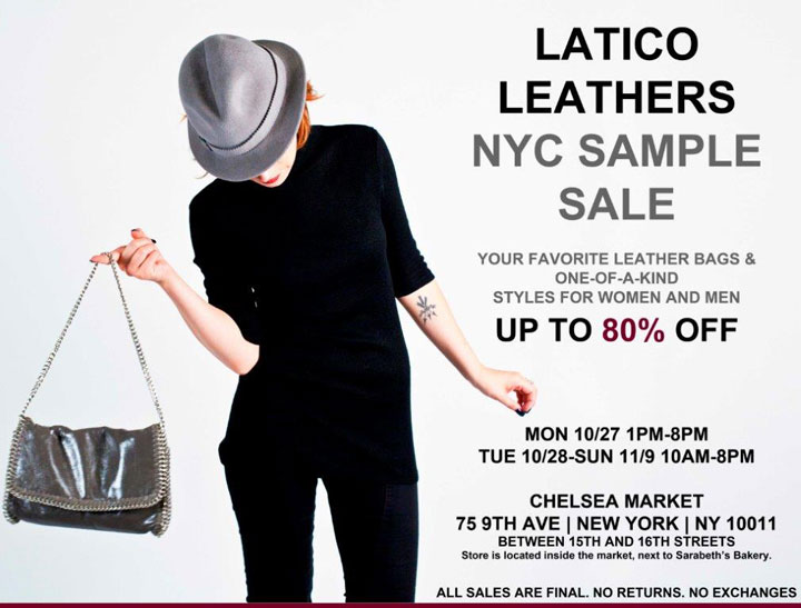 Latico Leathers Sample Sale