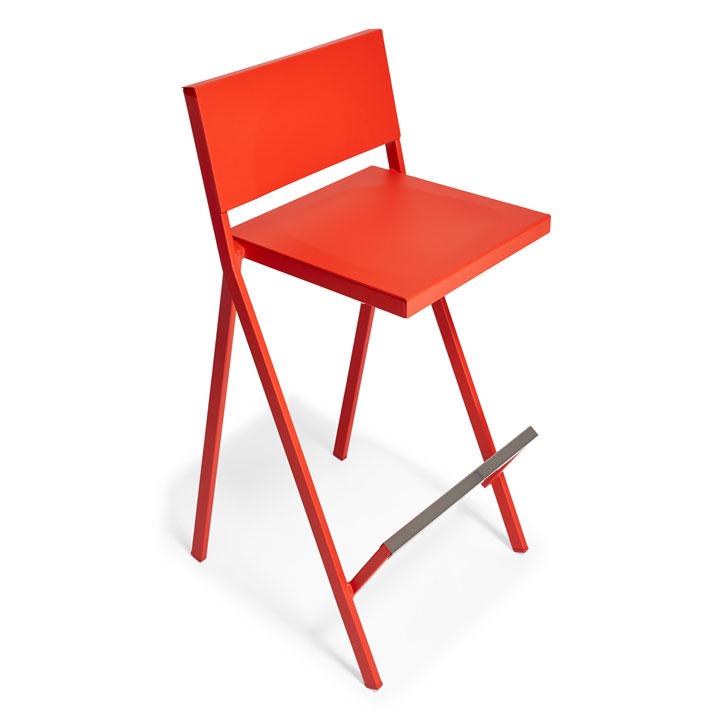 Lattice Bar Stool in Orange Red – originally: $495 now: $249