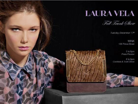 Laura Vela Trunk Show at Wink