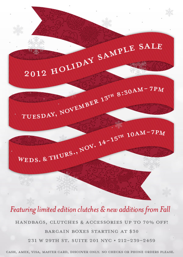 Lauren Merkin Holiday Sample Sale
