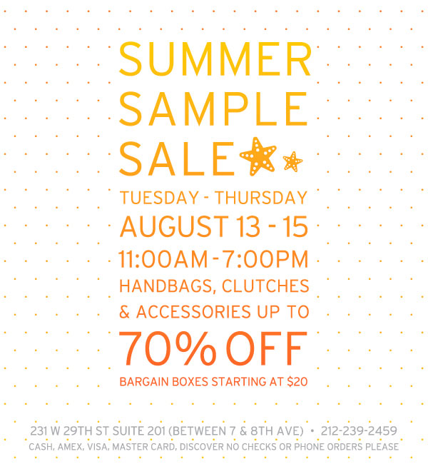 Lauren Merkin Sample Sale