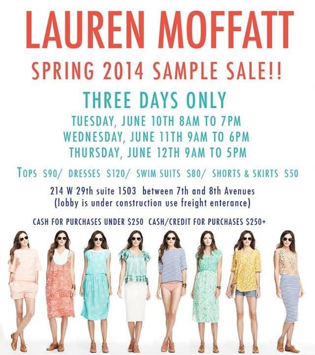 Lauren Moffatt Spring 2014 Sample Sale