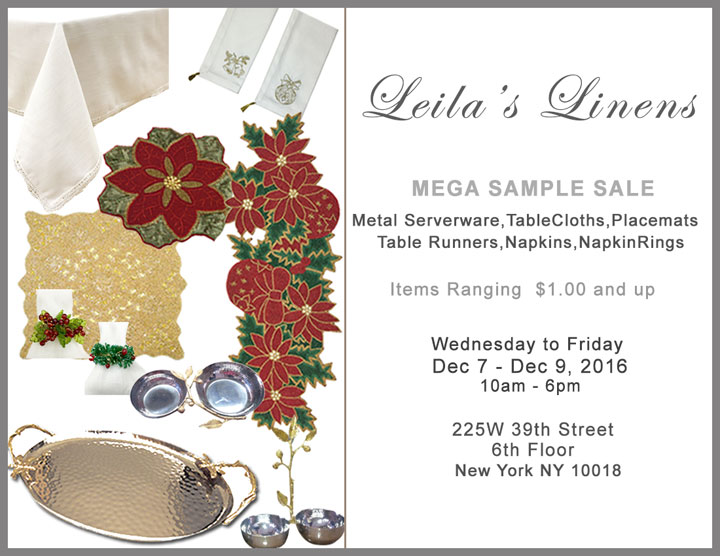 Leila's Linens Sample Sale