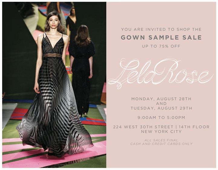 Lela Rose Gown Sample Sale