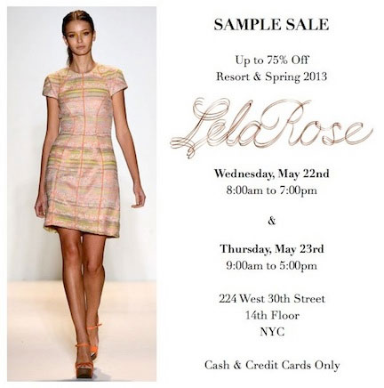 Lela Rose Sample Sale