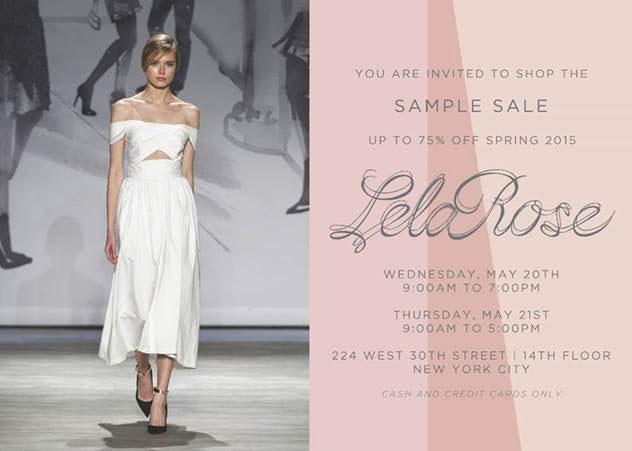 Lela Rose Spring 2015 Sample Sale