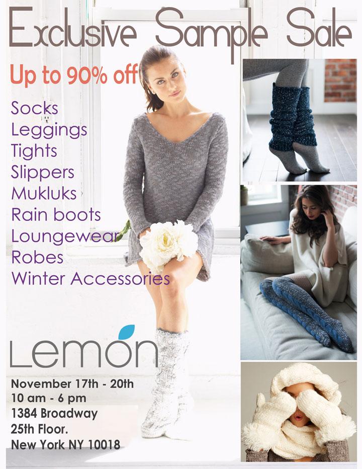 Lemon by Anew Legwear Sample Sale
