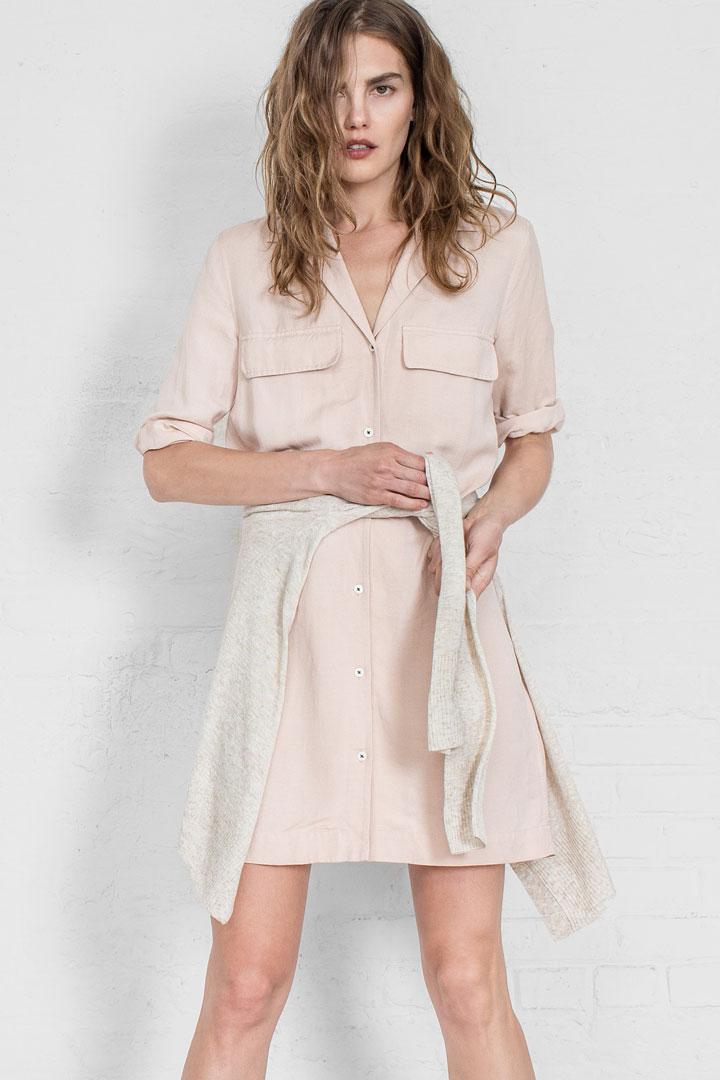 Leo & Sage Linen Shirt Dress, originally $345, sale price $85 or 2 for $150