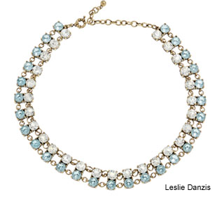 Leslie Danzis 14K Plated Glass Necklace