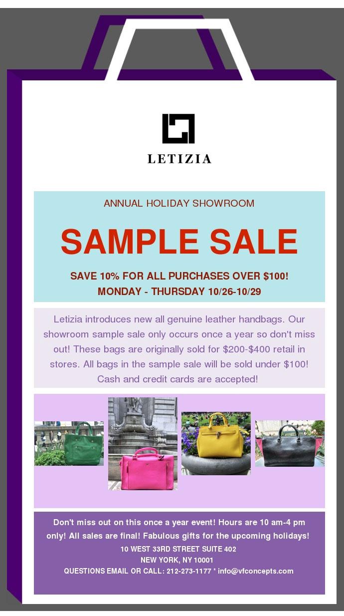 Letizia Sample Sale