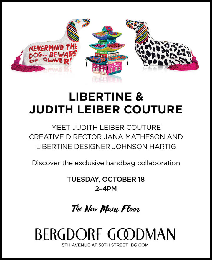 Libertine & Judith Leiber Couture Trunk Show