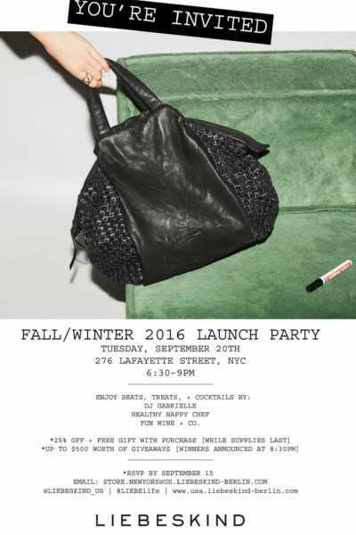 Liebeskind Fall/Winter 2016 Launch Party