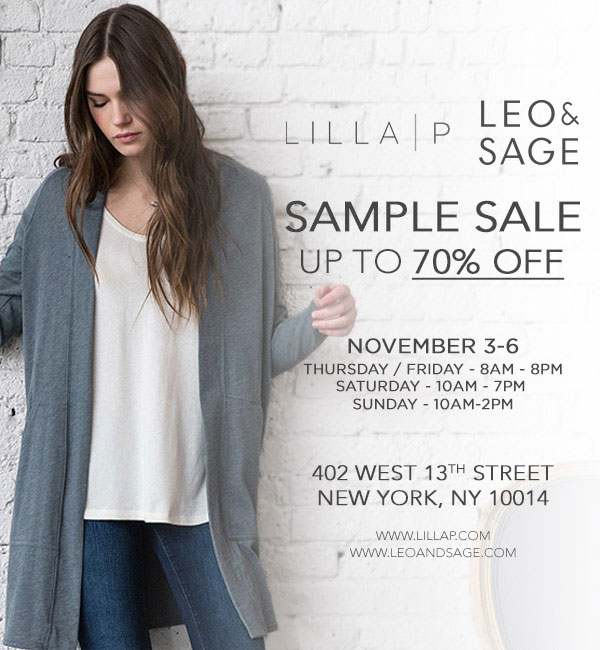 Lilla P and Leo & Sage Sample Sale