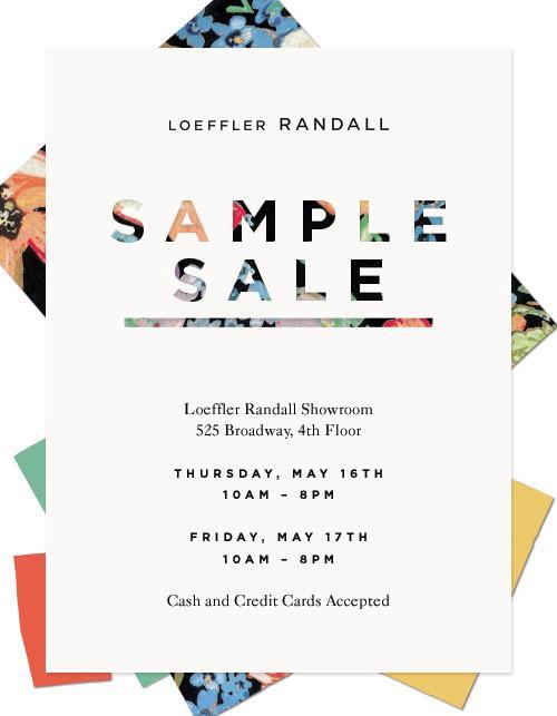 Loeffler Randall Sample Sale