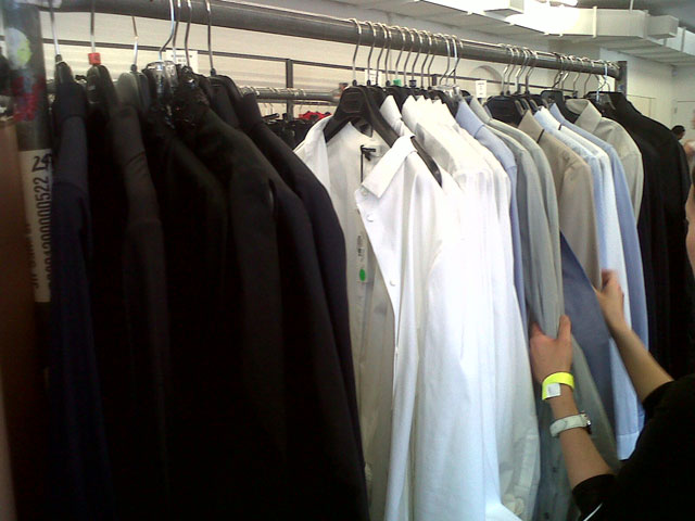 Long sleeve shirts including button-downs at Jil Sander Sample Sale
